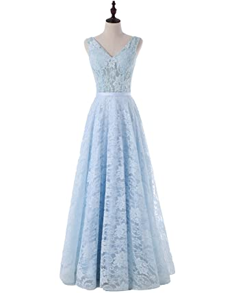 Solovedress Womens Lace Evening Prom Dress Long Bridesmaid Gowns Wedding Party Dress: Amazon.co.uk: Clothing