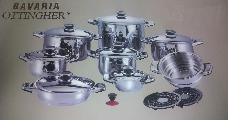 Bavaria Ottingher - Batería de cocina profesional Cookware ...
