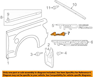 Genuine Toyota Parts - Plate, Rr Body Name, (75473-0C050)
