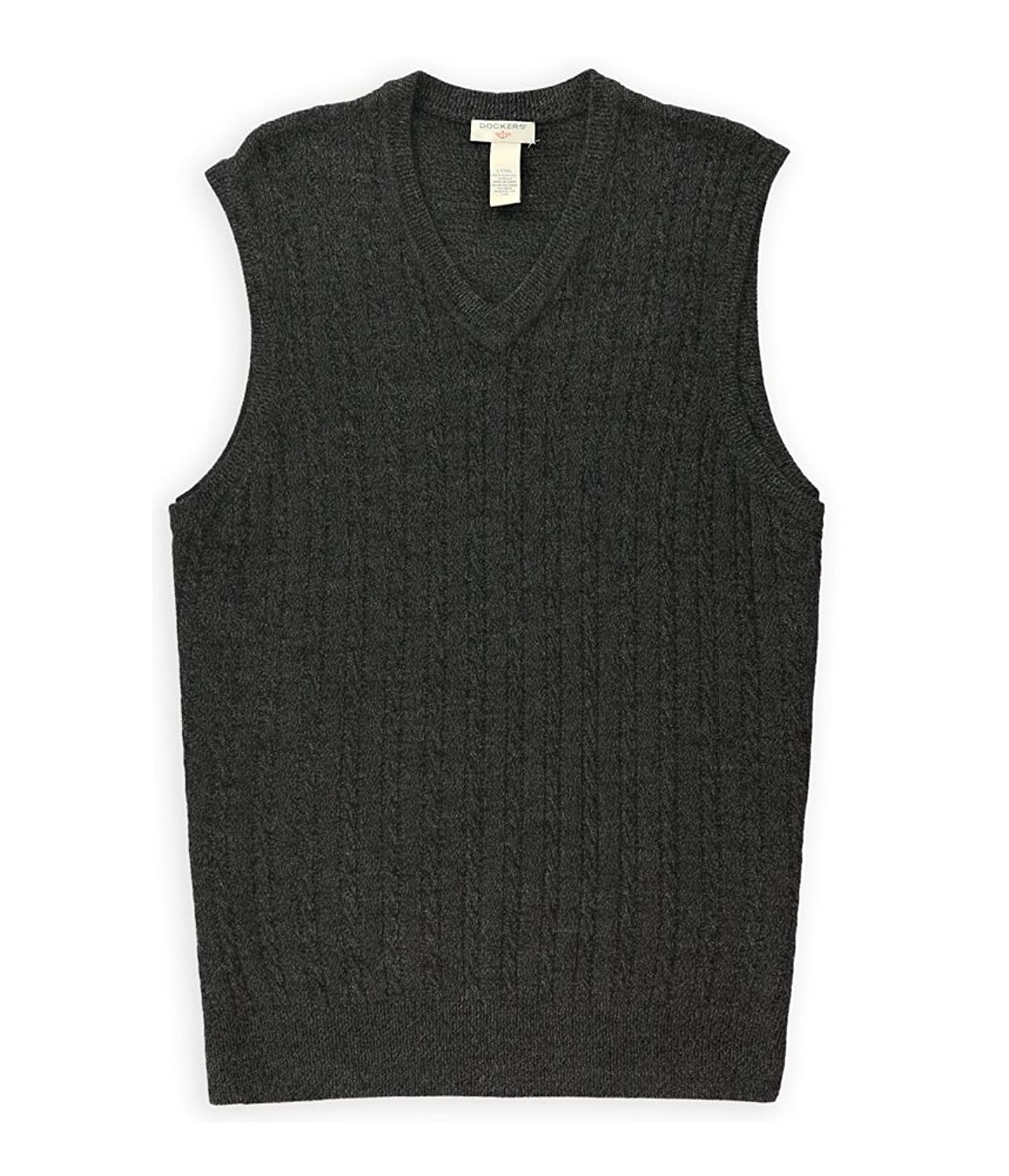 Dockers Mens Cable-Knit Sweater Vest