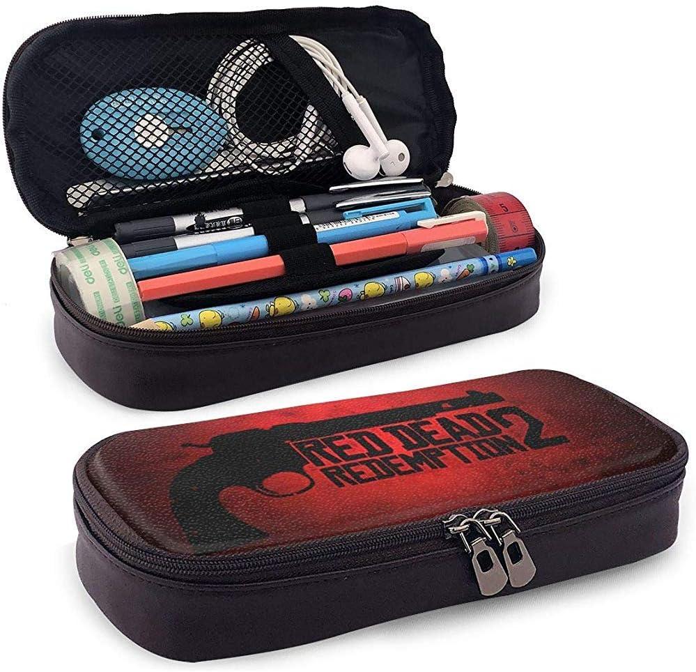 Red-Dead Redemption-2 Funda de lápices unisex para niños Caja de lápices Bolso de papelería con cremallera Bolsas de lona para niñas Niño: Amazon.es: Oficina y papelería