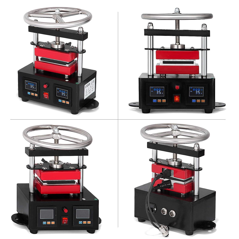 VEVOR 2.4 x 4.7 Heat Press Hand Crank Heat Press Machine 110V 900W Duel Heated Plates