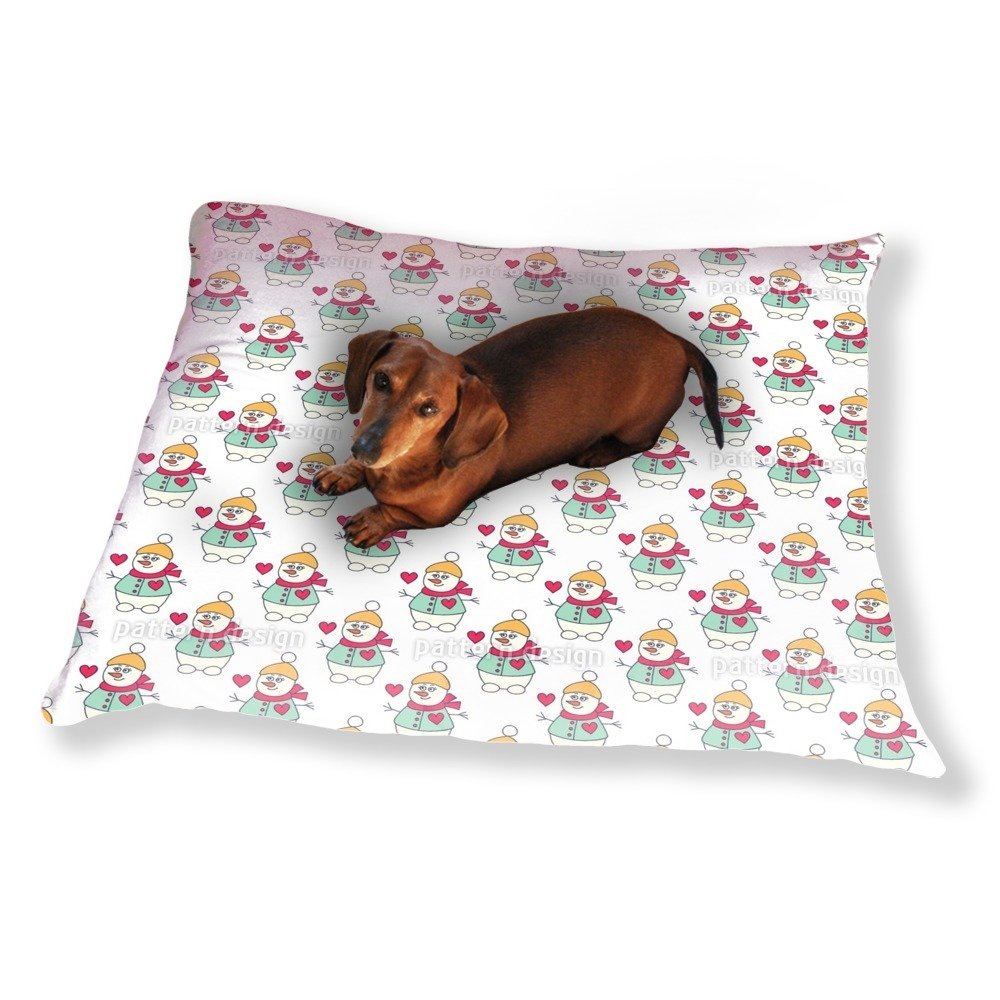Lovely Snowman Dog Pillow Luxury Dog / Cat Pet Bed by uneekee (Image #1)