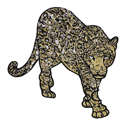 EMDOMO Parches Bordados de Leopardo con Lentejuelas para ...