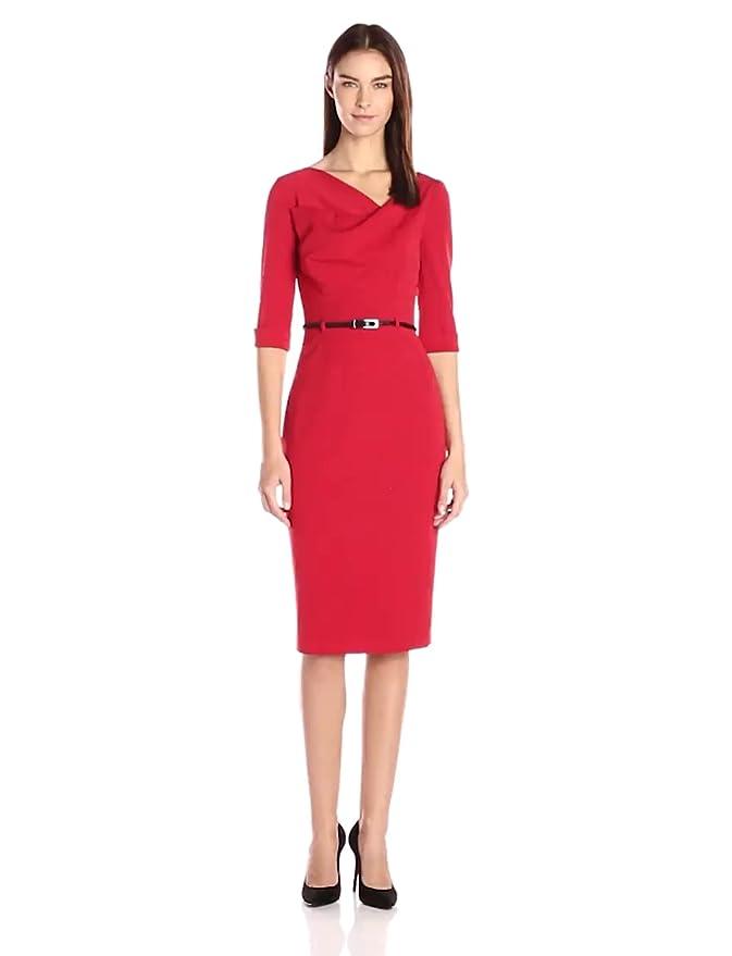 53d50256e51 Amazon.com  Black Halo Women s 3 4 Sleeve Jackie O Dress  Clothing