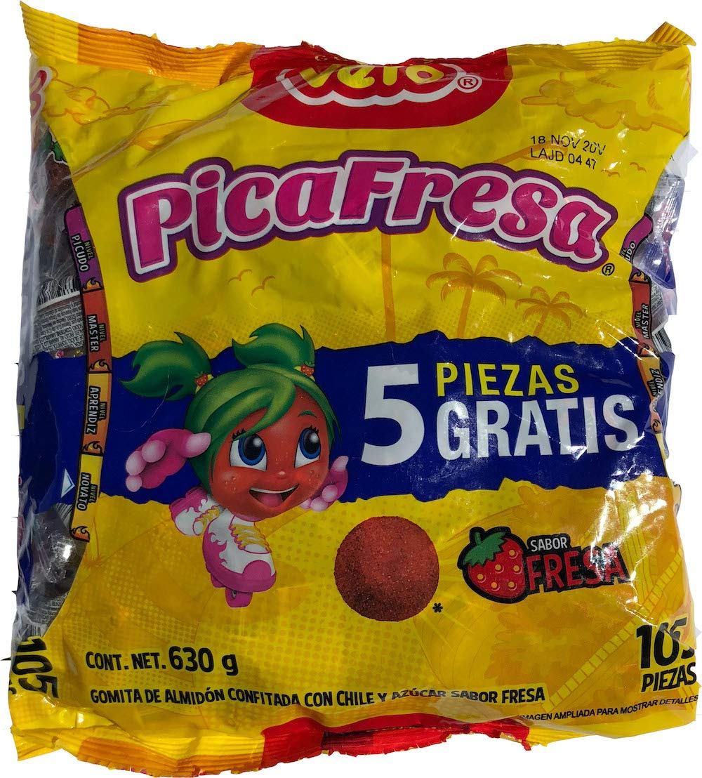 Vero Pica Fresa Chili Strawberry Gummy (100 Pcs) with FREE Pulparin Dots (4 Flavors)