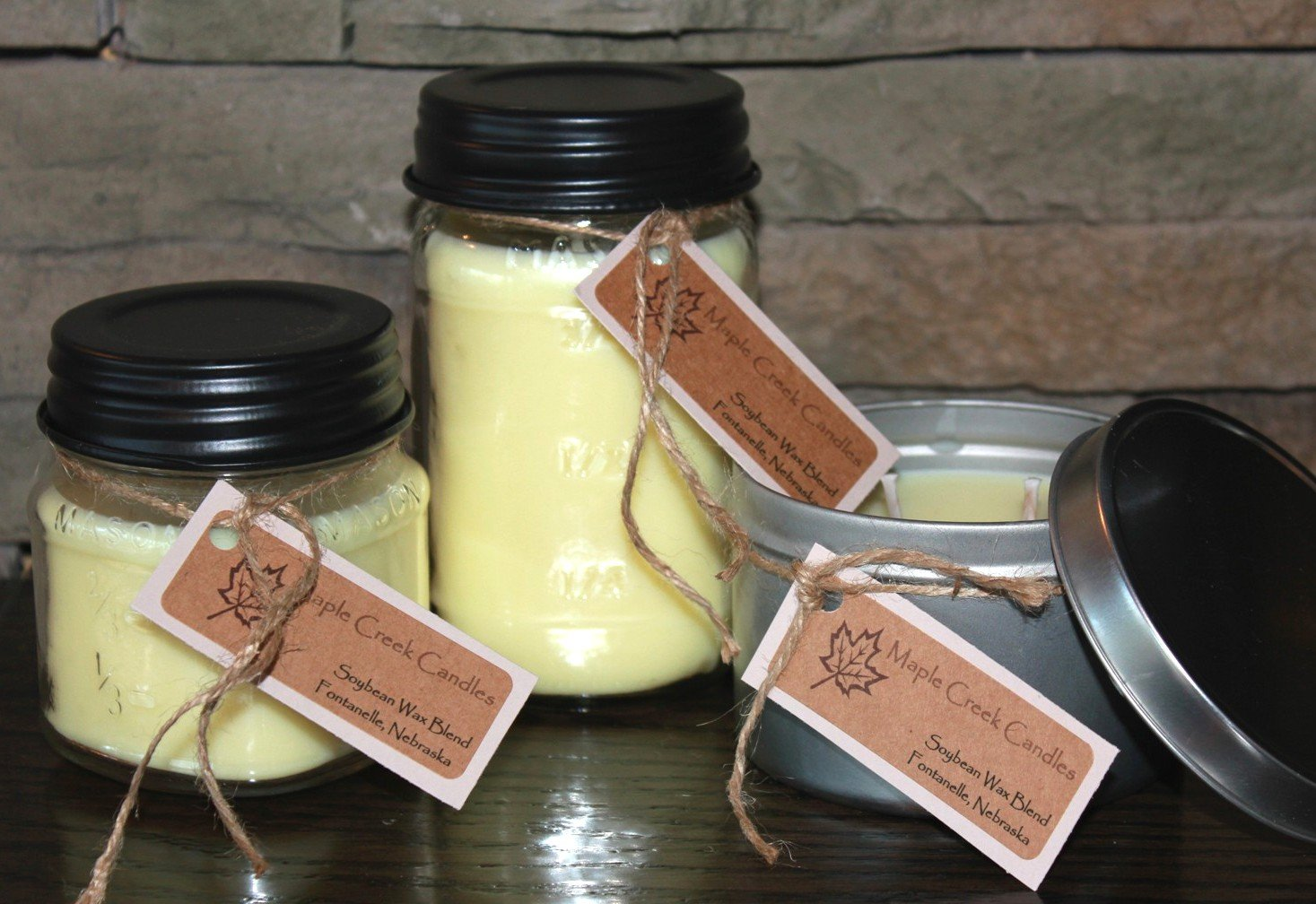 Maple Creek Candles POPCORN ~ Hot, Buttery, Movie Night ~ Soy Wax Blend 16oz jar candle