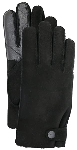 07b32900362 UGG Mens Sheepskin Glove With Leather Trim at Amazon Men's Clothing ...