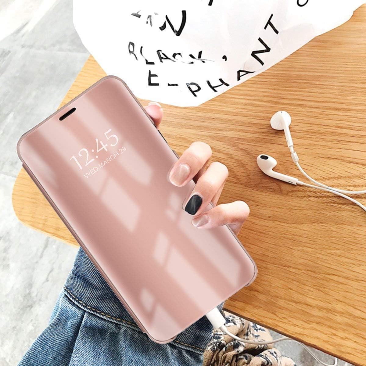 Argent Suhctup Coque Compatible pour Samsung Galaxy Note 9 Transparente Clear View Housse Etui Support /à Rabat Cover Flip Case 360/° Compl/ète Protection Anti-Choc Anti-Rayures Cover