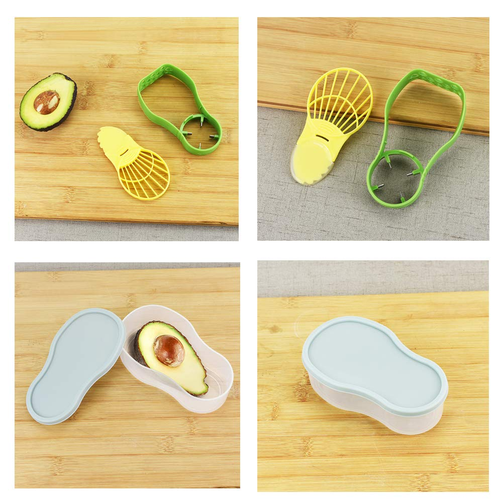 Avocado Slicer and Saver 5 in1 Tools Set-Avocado Cutter//Pitter//Masher//Storage//Container