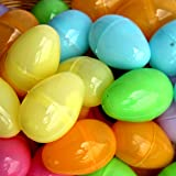 12 Pack Easter Eggs Bulk Pack - 12 Piece Easter Egg Set In Assorted Colors - 2 Inch Easter Eggs - Pull Apart To Hide Charms, Candy & More - By Dazzling Toys