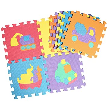 New 10Pcs Animal Pattern Foam Crawling Puzzle Kid Rug Carpet Split Baby Play Mat