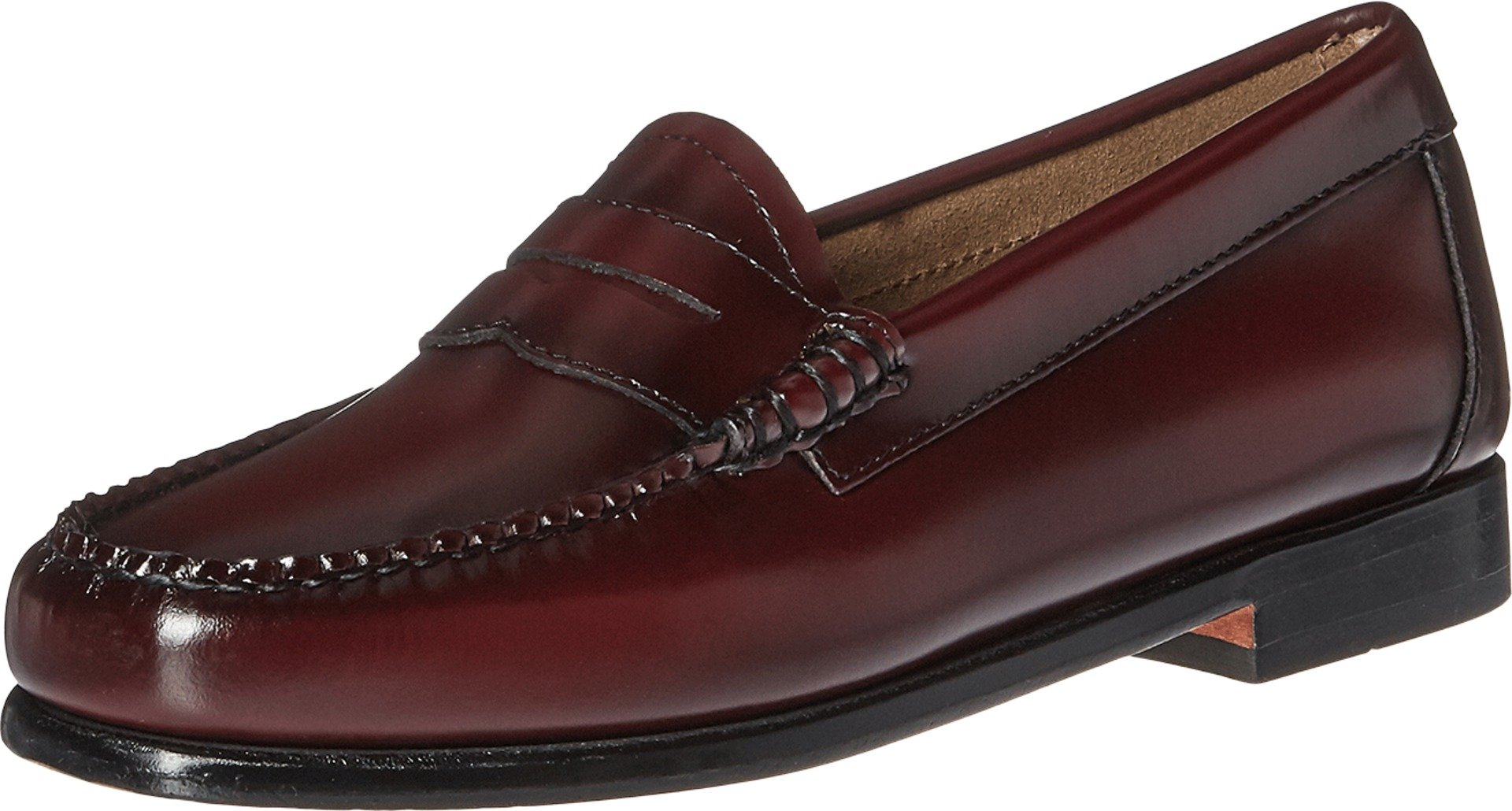 G.H. Bass & Co. Women's Whitney Penny Loafer,Cordovan Box Leather,US 8 W
