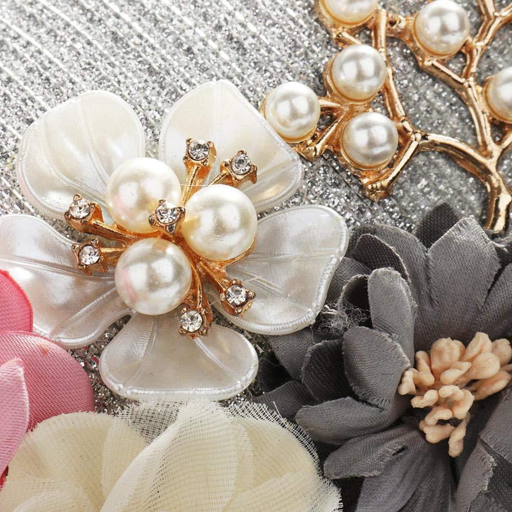 Womens Flower Evening Clutch Pearl Evening Handbag Wedding Clutch Purse