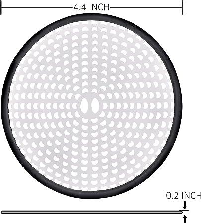 ISIYINER Copertura dello Scarico della Doccia Acciaio Inossidabile Il Giro Filtri Filtro Raccogli Capelli per Vasche da Bagno e Cucina 4,5 4,5 Pollici