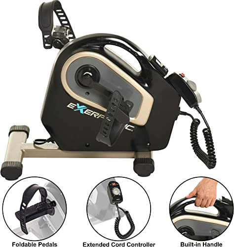 Exerpeutic 2000M Motorized Electric Legs and Arms Pedal Exerciser Mini Exercise Bike