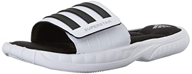 online store 27306 3d50d adidas Performance Men s Superstar 3G Slide Sandal,White Black Silver,11 M