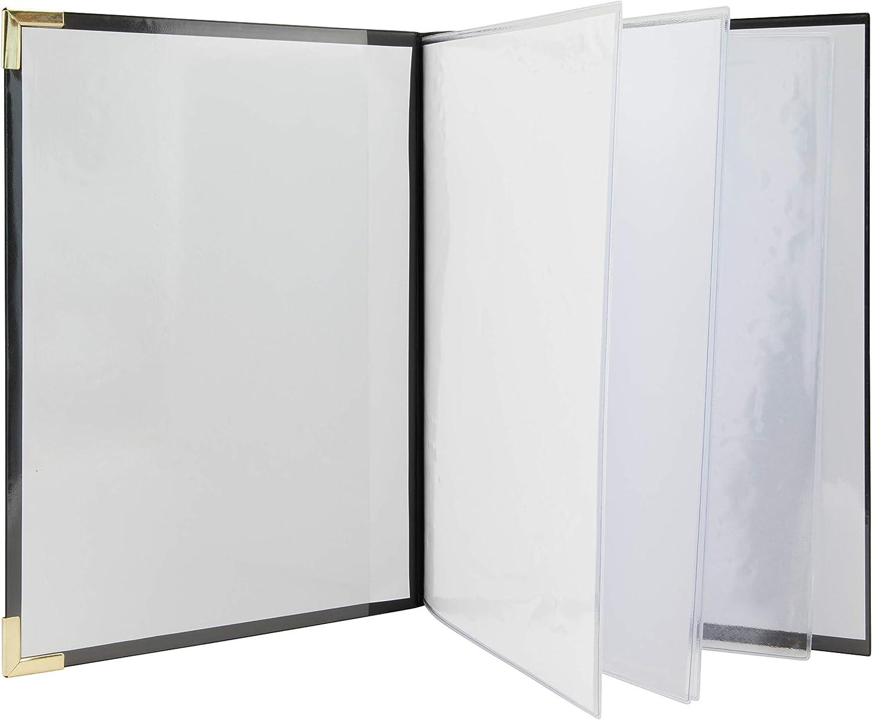 SECURIT Basic Range A4 - Cubierta para menús (2 Insertos Dobles ...