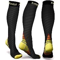 Rwest X Calcetines de compresión Medias de compresión para Hombres y Mujeres, Deporte, Trotar, Correr, Volar, Viajar…