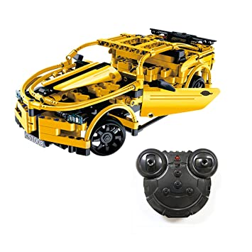 The perseids RC Sport Racing Car Building Kit in Green 453 pcs with 2 4 Ghz  Remote Controller, Gift for Kids 6-14 Years Old