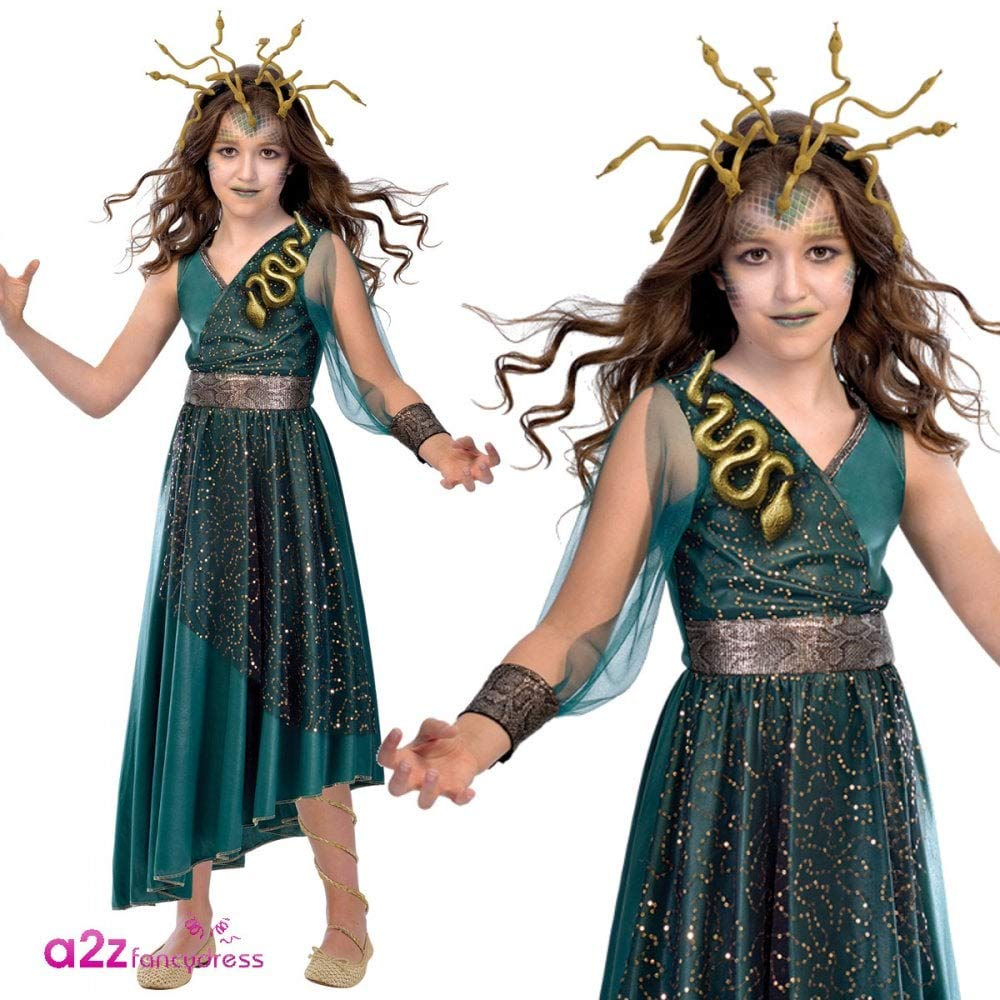 Amscan Disfraz de Niña Medusa Talla para Niños XL (10-12 Years): Amazon.es: Juguetes y juegos