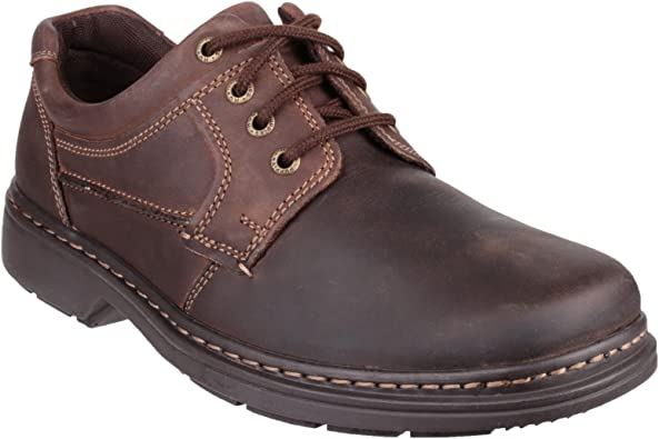 MENS HUSH PUPPIES RANDALL II BROWN BLACK LEATHER LACE UP WORK FORMAL MEN/'S SHOES