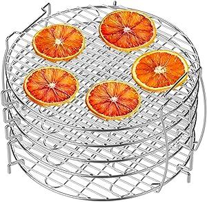 Dehydrator Rack, NBSail 5 Tier Food Grade 304 Stainless Steel Food Dehydrator Stand for Ninja Foodi Accessories, Fits 6.5 qt and 8 qt Ninja Foodi Pressure Cooker and Air Fryer, Silver