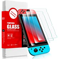 SMARTDEVIL 2 Pack Screen Protector Foils for Nintendo switch Protective Tempered Glass Film,Anti-Blue Light,9H Hardness…