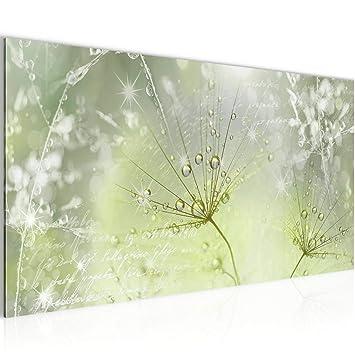 Bilder Blumen Pusteblume Wandbild Vlies - Leinwand Bild XXL Format  Wandbilder Wohnzimmer Wohnung Deko Kunstdrucke Grün 1 Teilig - MADE IN  GERMANY - ...