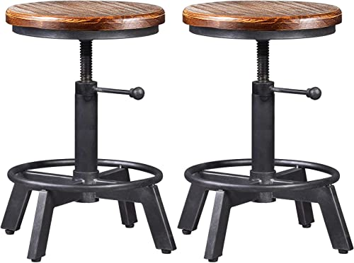 Set of 2-Industrial Bar Stool-Counter Height Chair