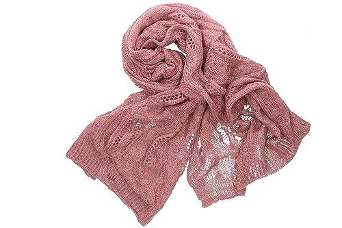 Sciarpa donna ROMEO GIGLI sciarpa rosa tinta unita in box confezione
