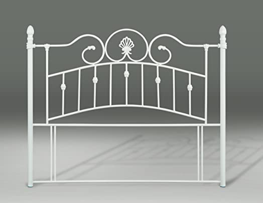 andorra metal headboard 3ft single 4ft small double and 4ft6 double ivory finished