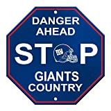 Fremont Die NFL New York Giants Stop Sign