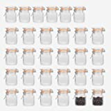 Encheng 4 oz Glass Jars With Airtight Lids And Leak Proof Rubber Gasket,Small Mason Jars With Hinged Lids For Kitchen…