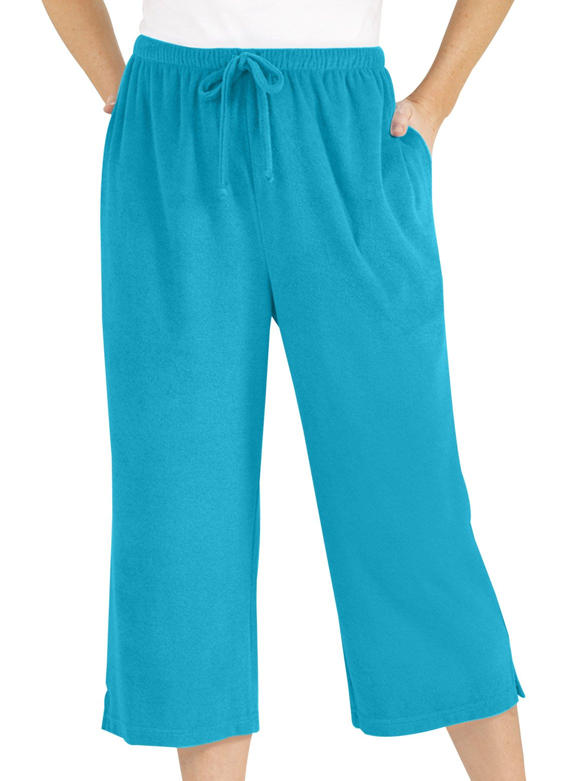 Carol Wright Gifts Terri Capri Pants, Turquoise, Size Medium Petite by Carol Wright Gifts (Image #1)