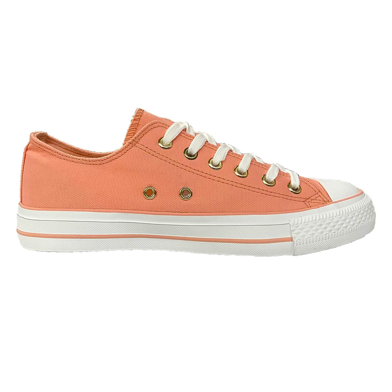 d6d2ea305 Amazon.com  Lantina Womens Canvas Classic Fashion Sneakers Casual Low Top  Sneaker Walking Ladies Tennis Shoes