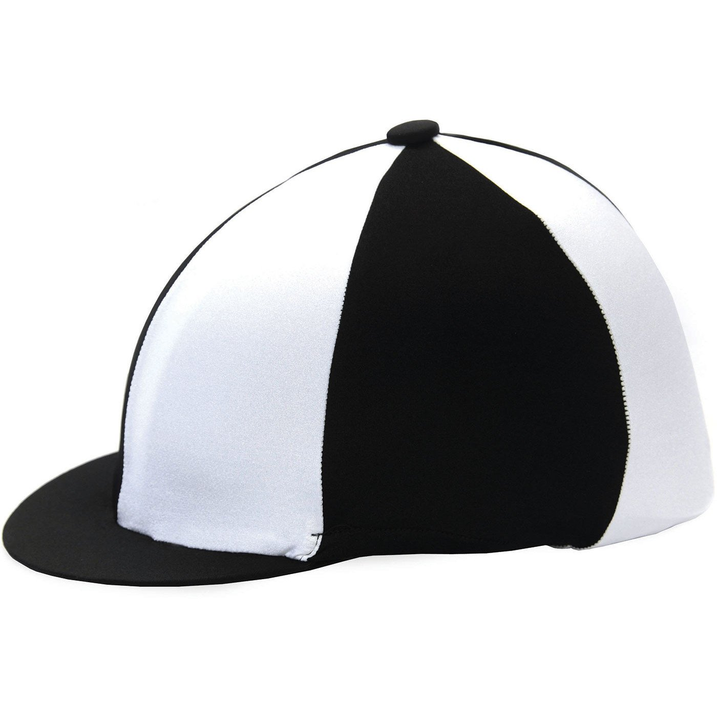 d5607c20ab62f HY Two Tone Black and White Lycra Riding Hat Silk