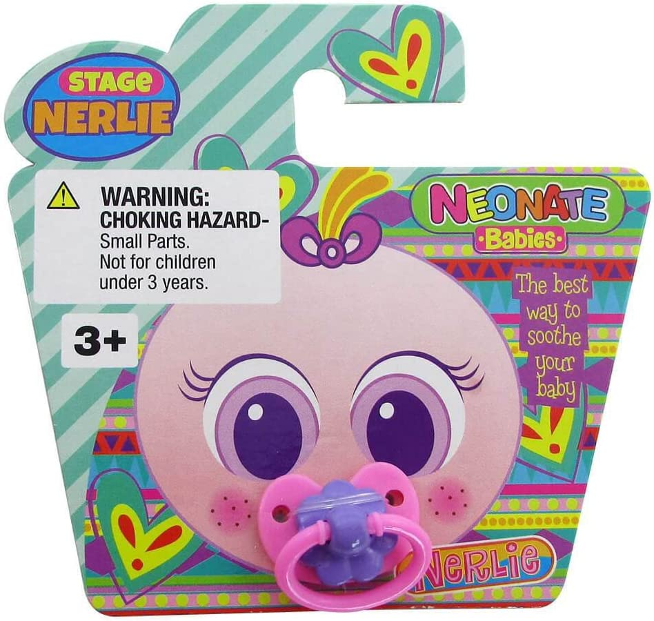 Nerlie PACIFIER For Distroller USA Neonate Babies Baby Doll Accessory ~ PINK