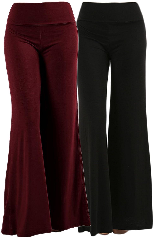 TL Women's Versatile Comfy Wide Leg Long Boho Maternity Palazzo Gaucho Pants TL-P1401
