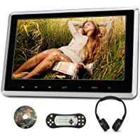 """NAVISKAUTO 10.1"""" Headrest DVD Player for Car & Home Use 1024×600 Portable Car DVD Player with Touch Button and IR Headphone Support HDMI, Sync Screen, AV Out & in, SD Card & USB, HD 1080P, Region Free"""