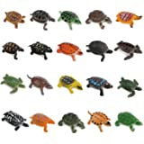 OOTSR 20pcs Turtle Figurines Toys, Realistic Sea Turtle Assorted Mini Plastic Tortoises for Party Favor Decoration…