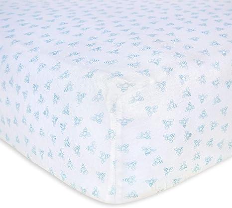 Girls /& Unisex 100/% Organic Cotton Crib... Fitted Crib Sheet Burt/'s Bees Baby