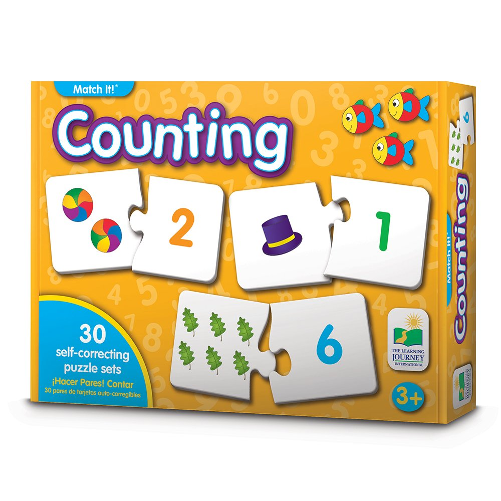 The Learning Journey Match It Counting Self Correcting Number Learn to Count Puzzle