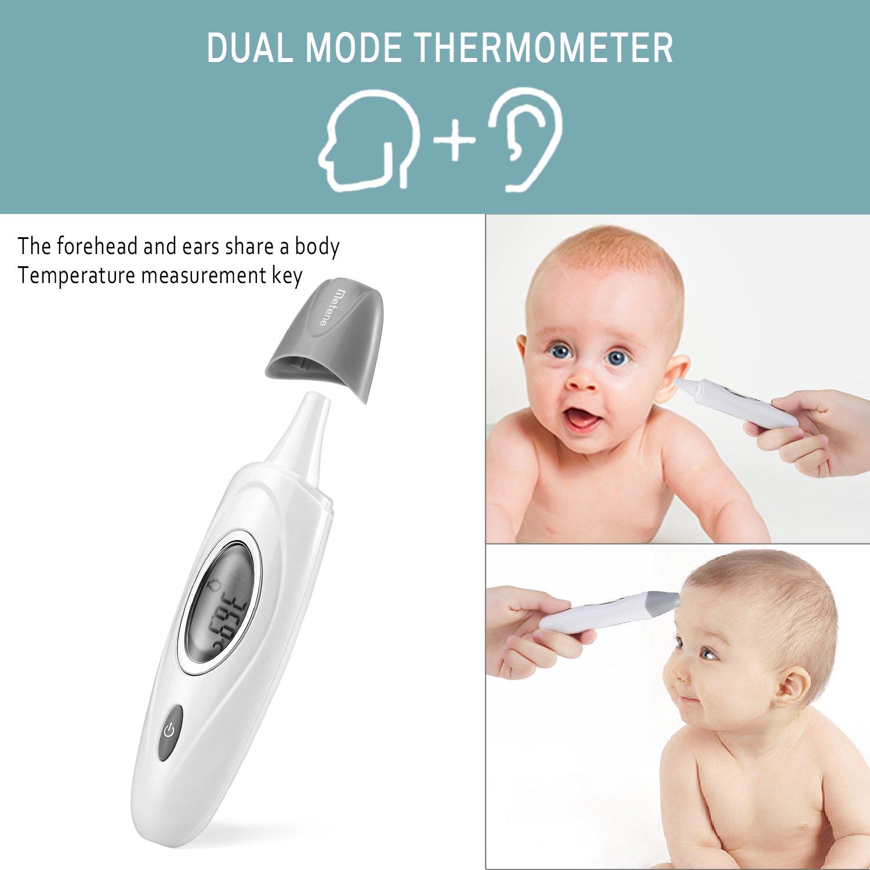 Termómetro Digital de Modo Dual Metene Sin Contacto para Frente y Oído por solo 19,99€