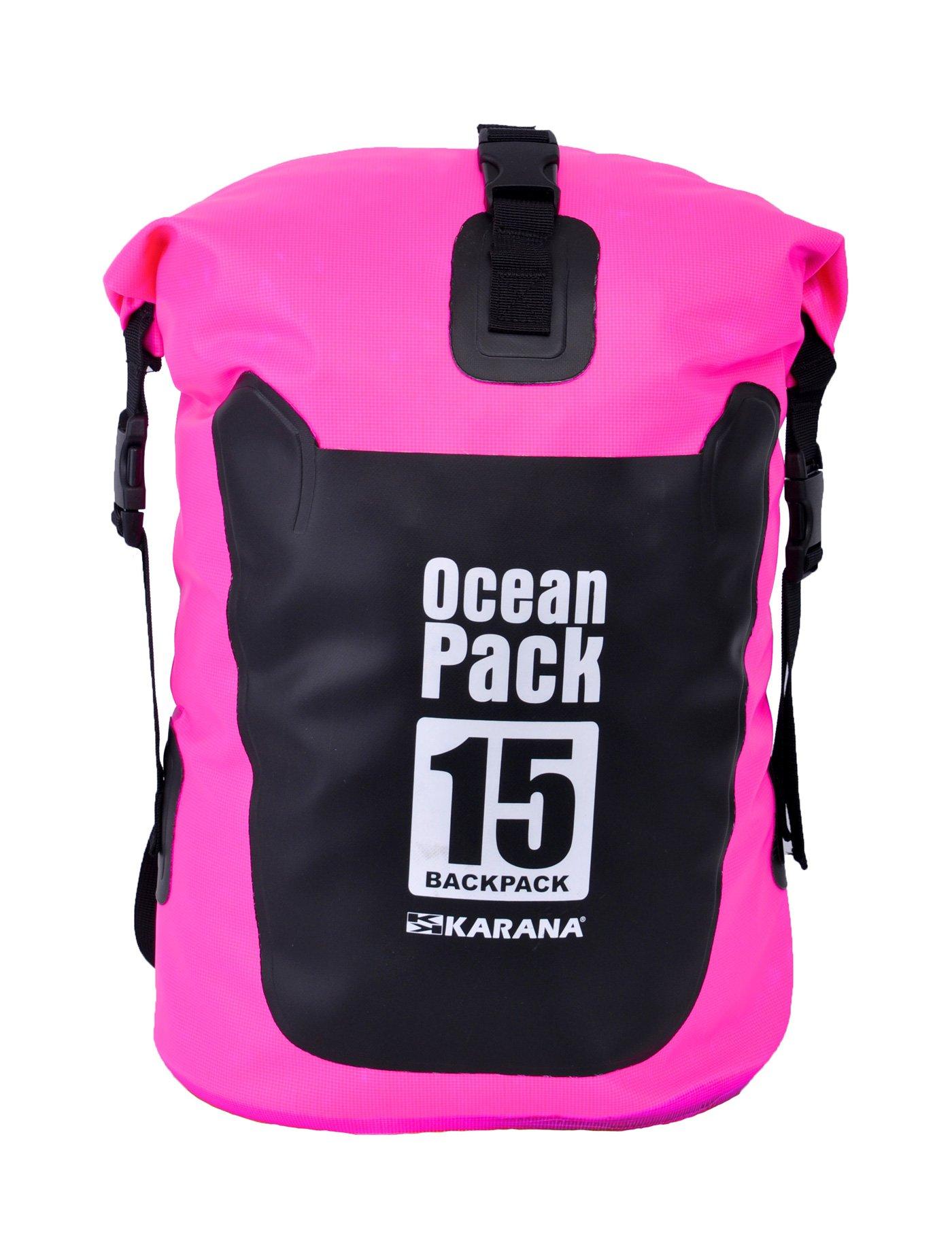 KARANA Ocean Pack Waterproof Dry Bag 15 Litres (116012315), Pink Color 1 pcs.