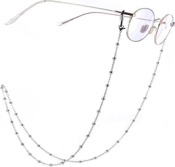 EUEAVAN Acryl Eyeglass Retainer Chain Sonnenbrille Strap Chain Lesebrille Halsketten Chain f/ür Frauen und M/änner