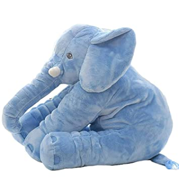 Pearl World Elephant Soft Toy Cushion Pillow Cover for Baby Safety (Size_21x14x10 cm)
