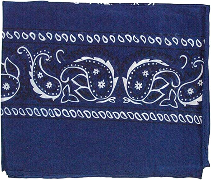 Wild Rag Bandana Silk Scarf Red Black Navy Blue Green
