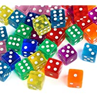 GWHOLE 40 Pieces Polyhedral Dice 6-Sided Dice Set for Math Learning, Casino, Games, Party Favor and Gifts, 8 Colors