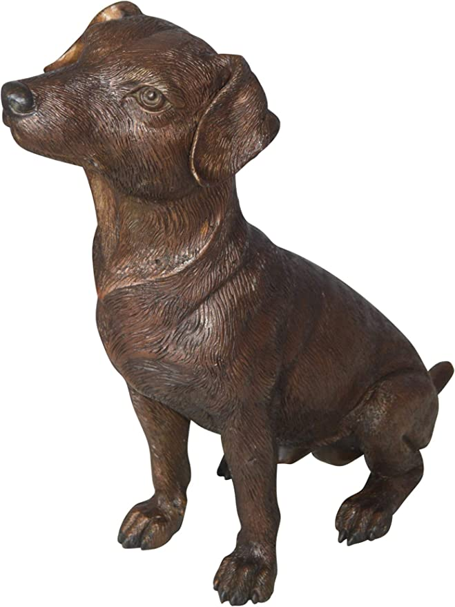 Jack Russel Dog Standing Bronze Statue Size 10 L X 6 W X 14 H Home Kitchen